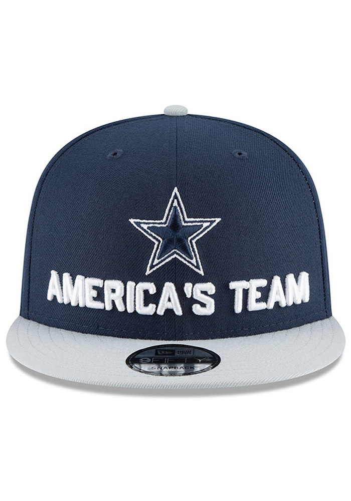 Dallas Cowboys Navy Blue 2018 Spotlight Draft 9FIFTY Youth Snapback Hat - Image 2