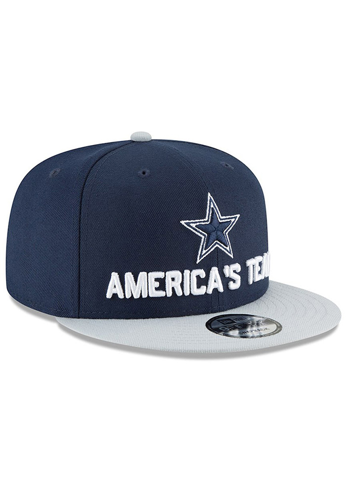 Dallas Cowboys Navy Blue 2018 Spotlight Draft 9FIFTY Youth Snapback Hat - Image 3