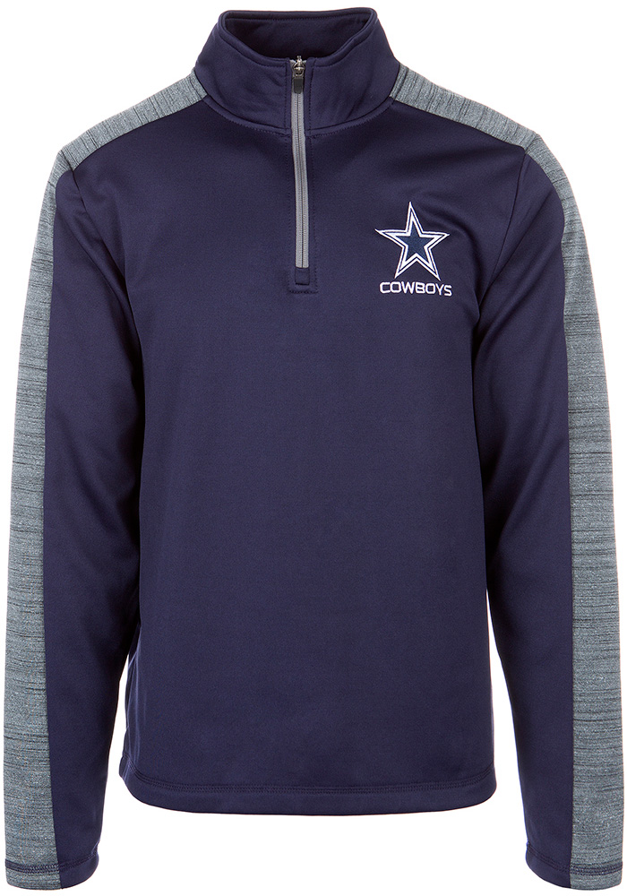 Dallas Cowboys Mens Navy Blue Fall 18 Long Sleeve 1/4 Zip Pullover - Image 1