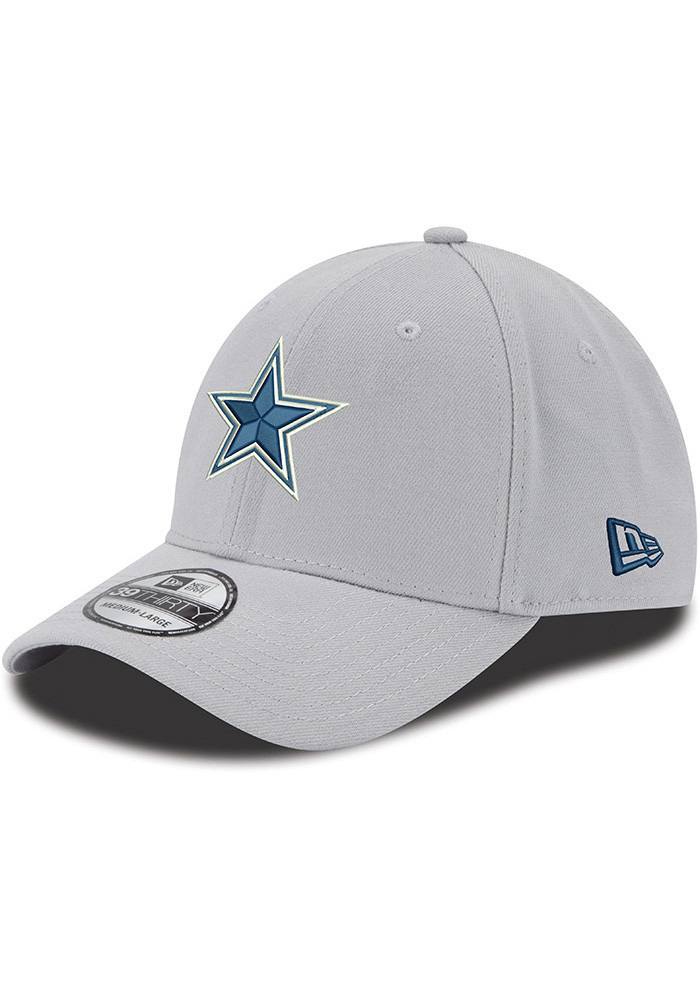 Dallas Cowboys Mens Grey Basic 39THIRTY Flex Hat - Image 1