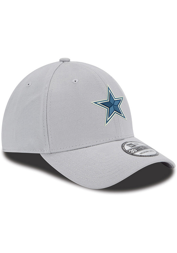 Dallas Cowboys Mens Grey Basic 39THIRTY Flex Hat - Image 2