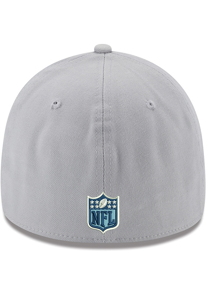 Dallas Cowboys Mens Grey Basic 39THIRTY Flex Hat - Image 4