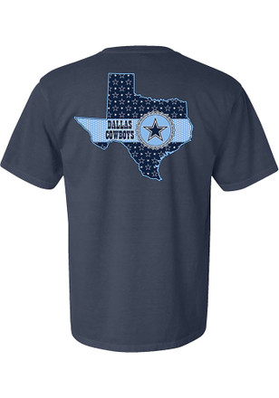 Dallas Cowboys Womens Blue Ribbon State Unisex Tee