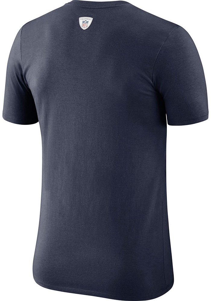 Dallas Cowboys Navy Blue Facility Short Sleeve T Shirt - Image 2