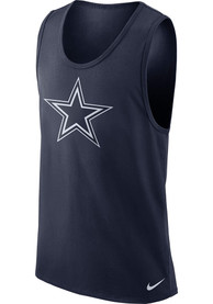 Dallas Cowboys Mens Navy Blue Modern Sport Tank Top
