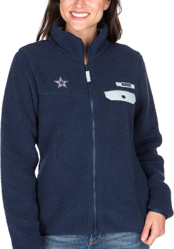 Columbia Dallas Cowboys Womens Grey Mountain Side Heavy Light Weight Jacket - Image 1