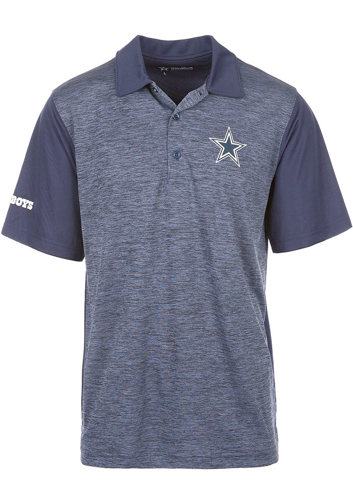 Dallas Cowboys Mens Navy Blue Kip Short Sleeve Polo - Image 1