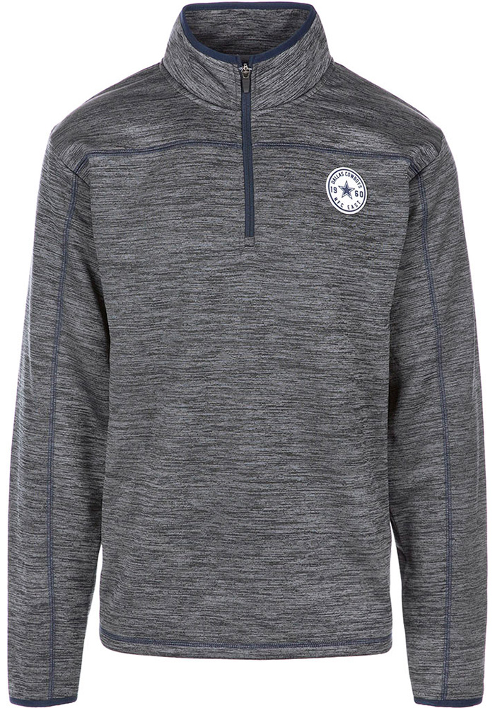 Dallas Cowboys Mens Grey Odin Long Sleeve 1/4 Zip Pullover - Image 1