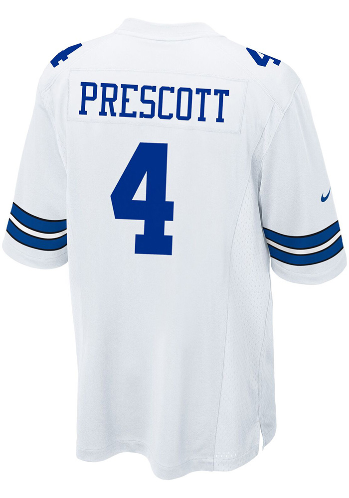 Dak Prescott Nike Dallas Cowboys Mens White Game Replica Football Jersey - Image 1