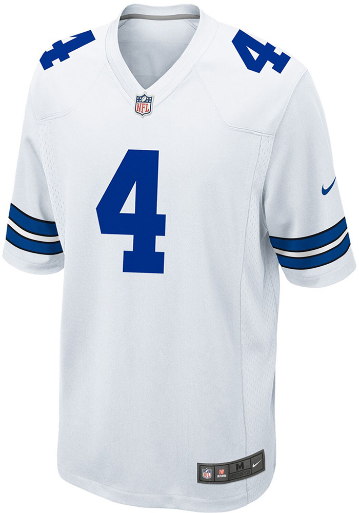 Dak Prescott Nike Dallas Cowboys Mens White Game Replica Football Jersey - Image 2