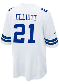 new style 0e1ee 57f51 Ezekiel Elliott Nike Dallas Cowboys White Game Replica Jersey