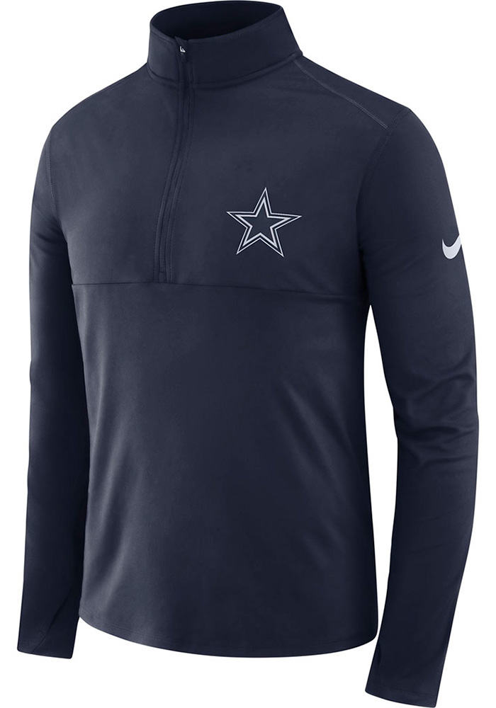 Dallas Cowboys Mens Navy Blue Element Long Sleeve 1/4 Zip Pullover - Image 1