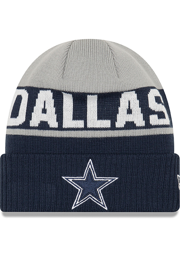 Dallas Cowboys Grey Jr Chilled Youth Knit Hat - Image 1