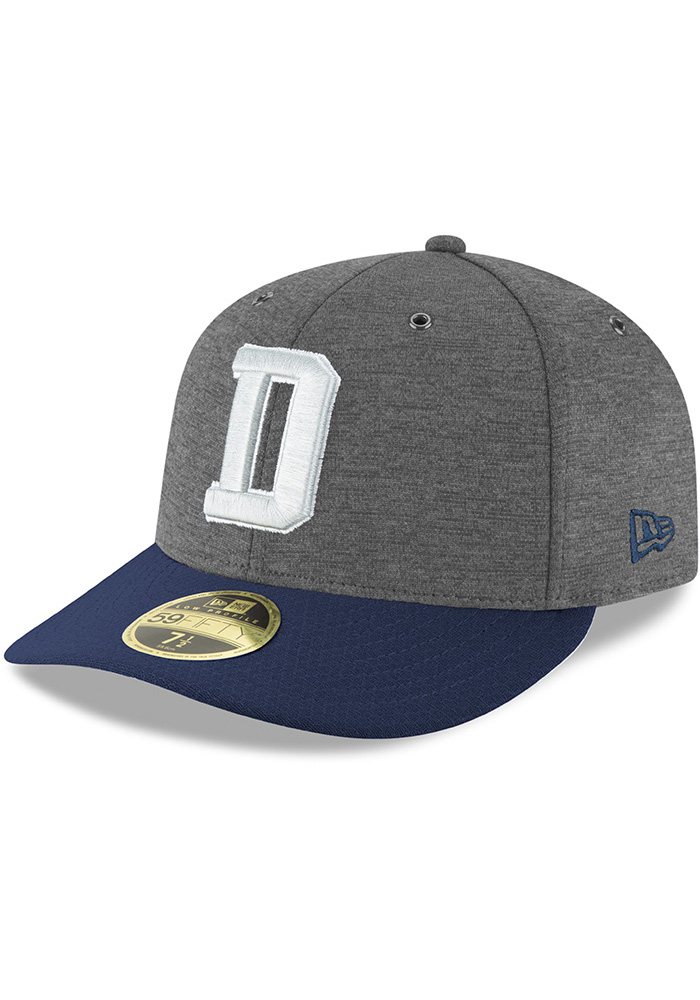 info for caf1a f4cbc Dallas Cowboys Grey NFL18 Fashion Sideline Home LP 59FIFTY Fitted Hat