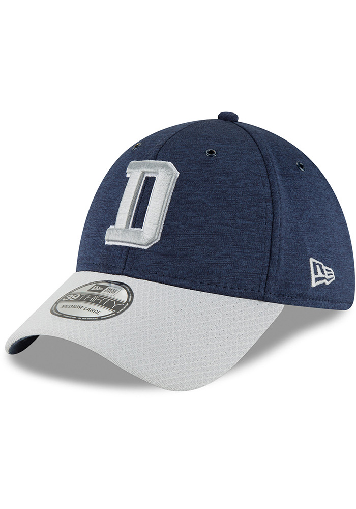 4e5efa762 Dallas Cowboys Navy Blue NFL18 Sideline Home 39THIRTY Flex Hat