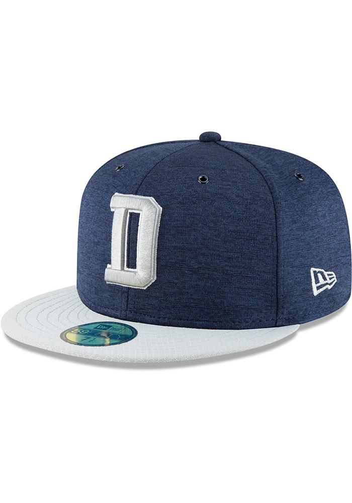 Dallas Cowboys Navy Blue NFL18 Sideline Home 59FIFTY Fitted Hat e1c620cef