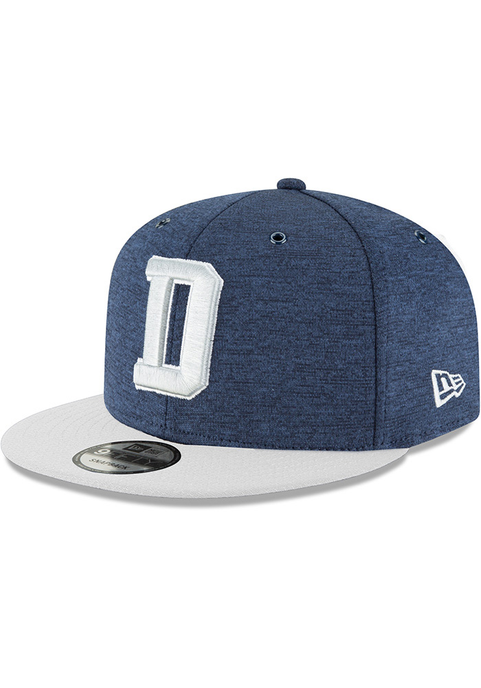 Dallas Cowboys Navy Blue NFL18 Sideline Home 9FIFTY Mens Snapback Hat - Image 1