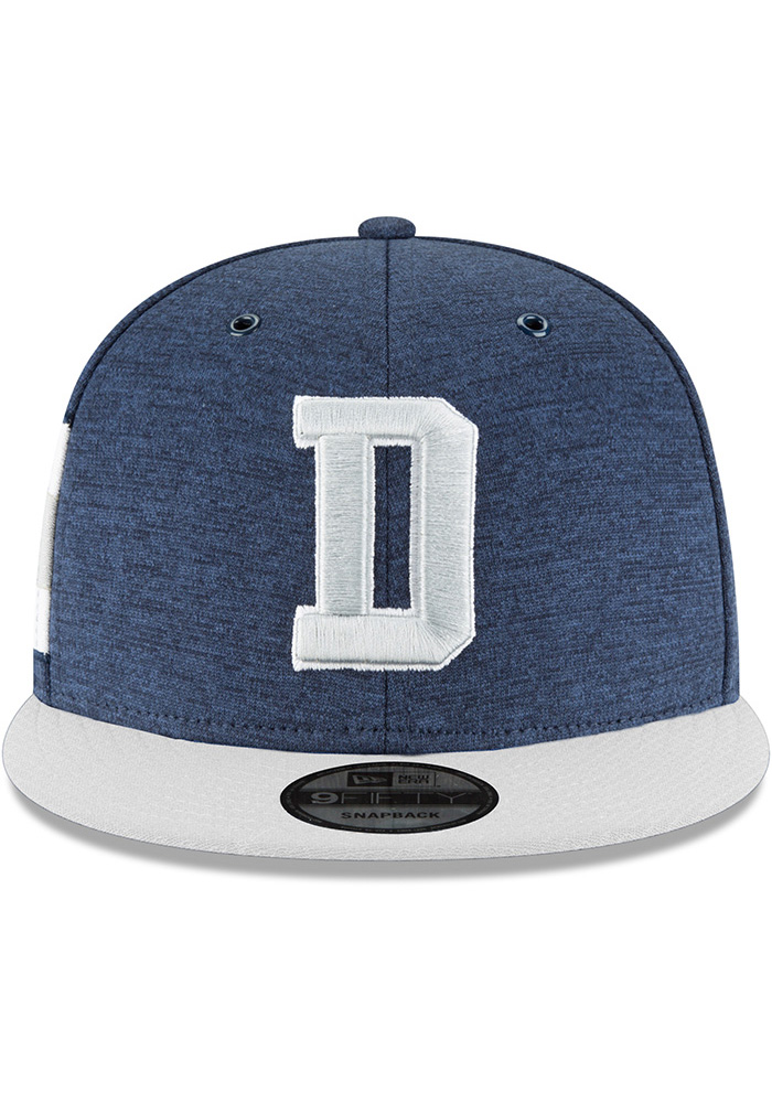 Dallas Cowboys Navy Blue NFL18 Sideline Home 9FIFTY Mens Snapback Hat - Image 2