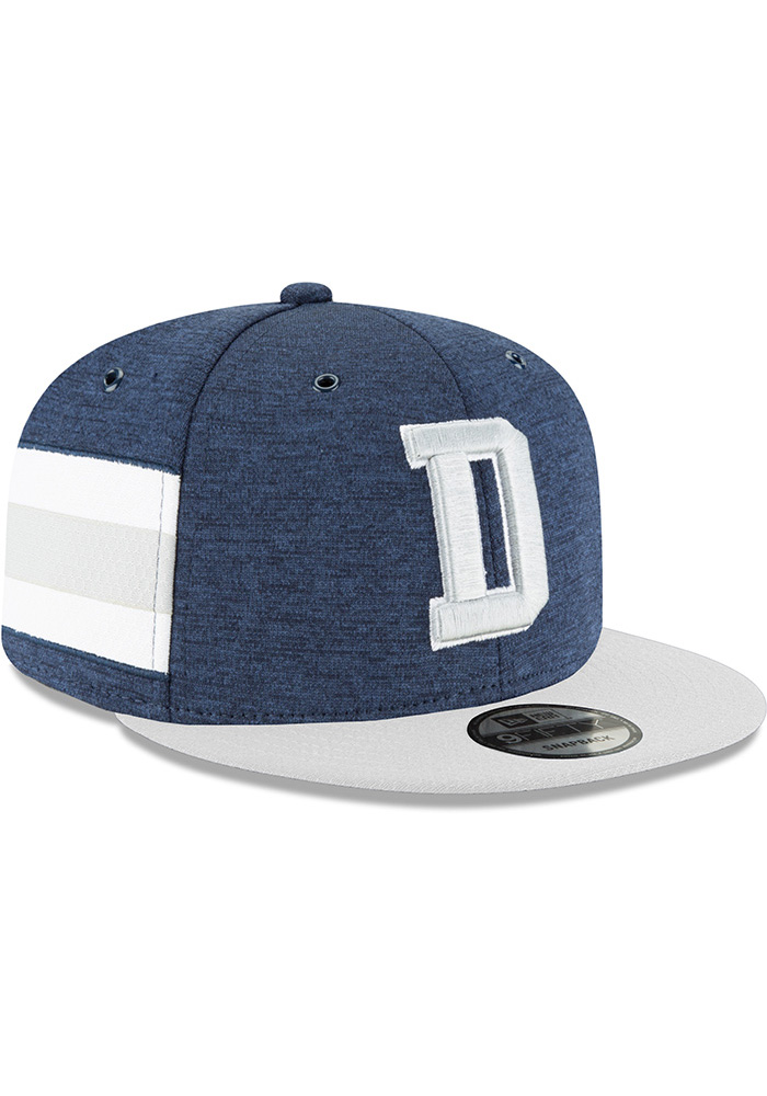 Dallas Cowboys Navy Blue NFL18 Sideline Home 9FIFTY Mens Snapback Hat - Image 3