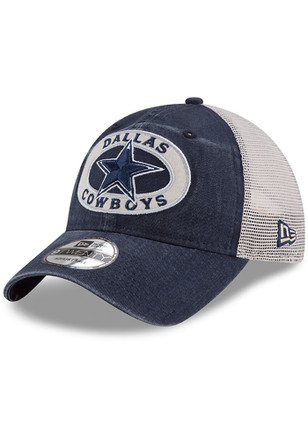 new products 451b0 d4790 Dallas Cowboys Navy Blue Patched Pride 9TWENTY Adjustable Hat