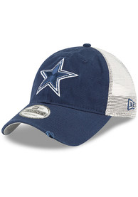 e83a59f96d6e4 Dallas Cowboys Navy Blue Stated Back 9TWENTY Adjustable Hat