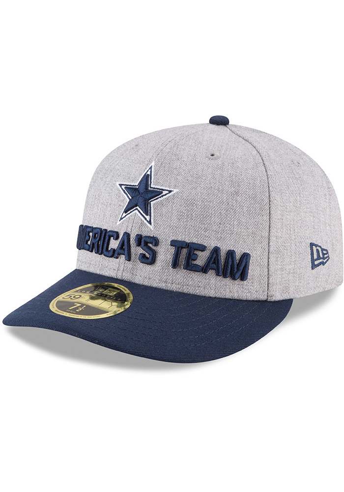 Dallas Cowboys Mens Grey 2018 On-Stage Draft LP 59FIFTY Fitted Hat - Image 1 5dad11695