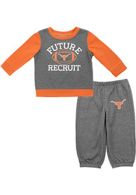 Texas Longhorns Infant Buster Top and Bottom - Grey