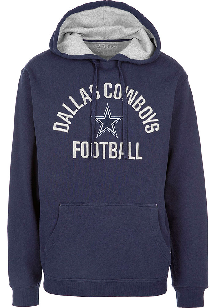 Dallas Cowboys Mens Navy Blue Dudley Long Sleeve Hoodie - Image 1