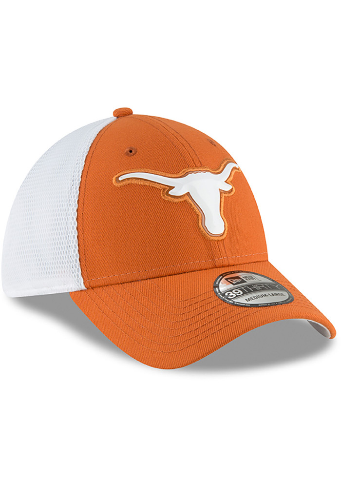 Texas Longhorns Mens Orange Fan Mesh 39THIRTY Flex Hat - Image 2