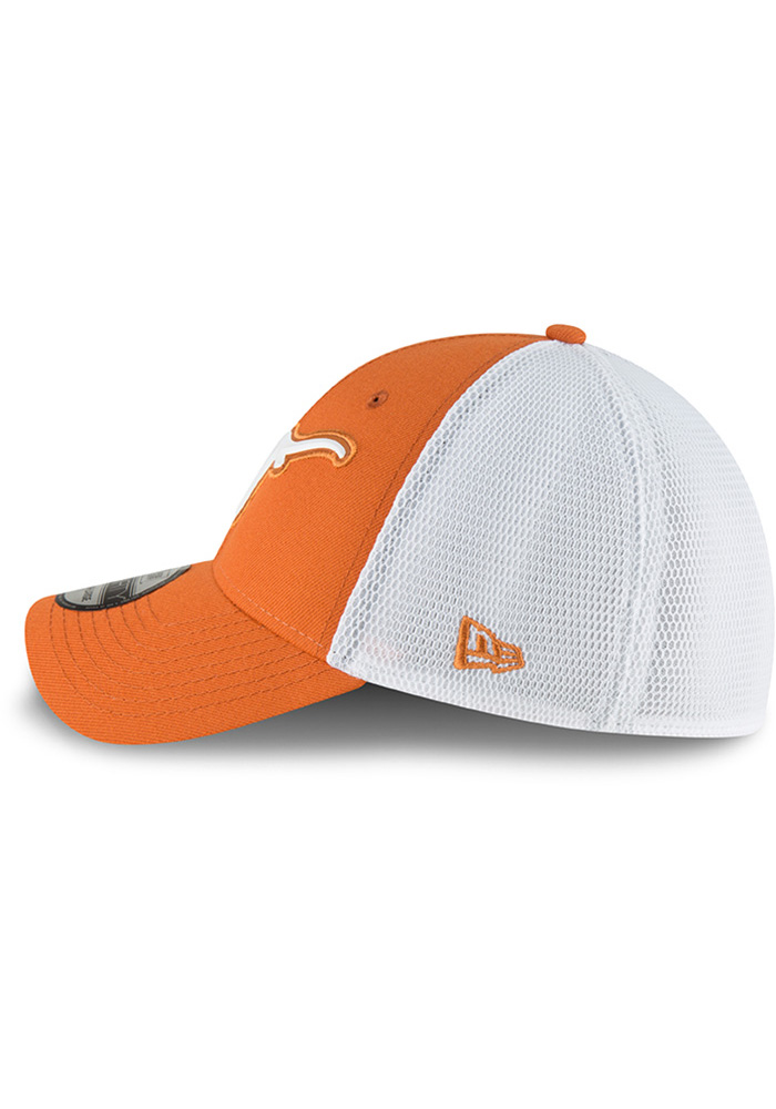 Texas Longhorns Mens Orange Fan Mesh 39THIRTY Flex Hat - Image 4