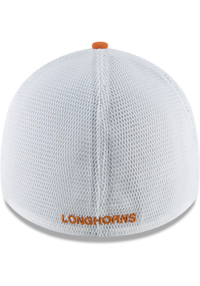 Texas Longhorns Mens Orange Fan Mesh 39THIRTY Flex Hat - Image 5
