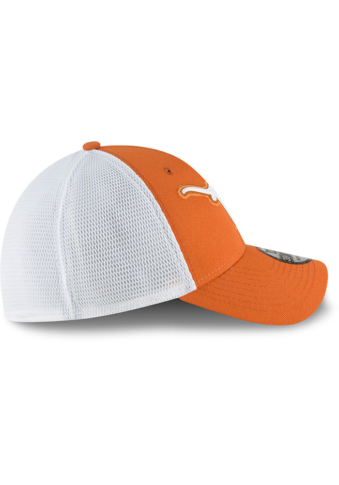Texas Longhorns Mens Orange Fan Mesh 39THIRTY Flex Hat - Image 6