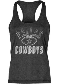 Dallas Cowboys Womens Navy Blue Poult Tank Top