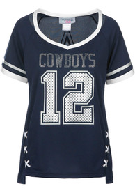 Dallas Cowboys Womens Vixen Fashion Football Jersey - Navy Blue