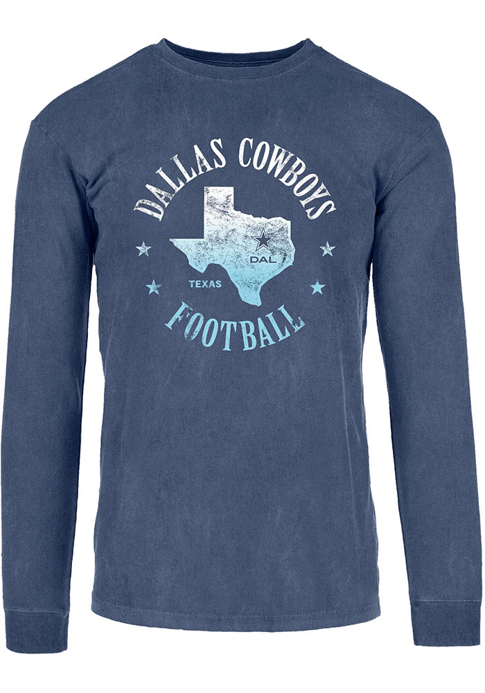 Dallas Cowboys Womens Navy Blue Always Texas Ls Tee 41021982