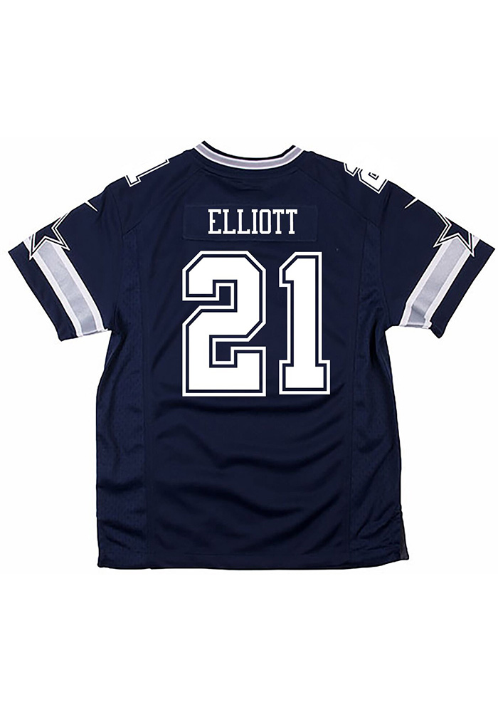 outlet store 54260 1ad99 Ezekiel Elliott Nike Dallas Cowboys Youth White Game Football Jersey