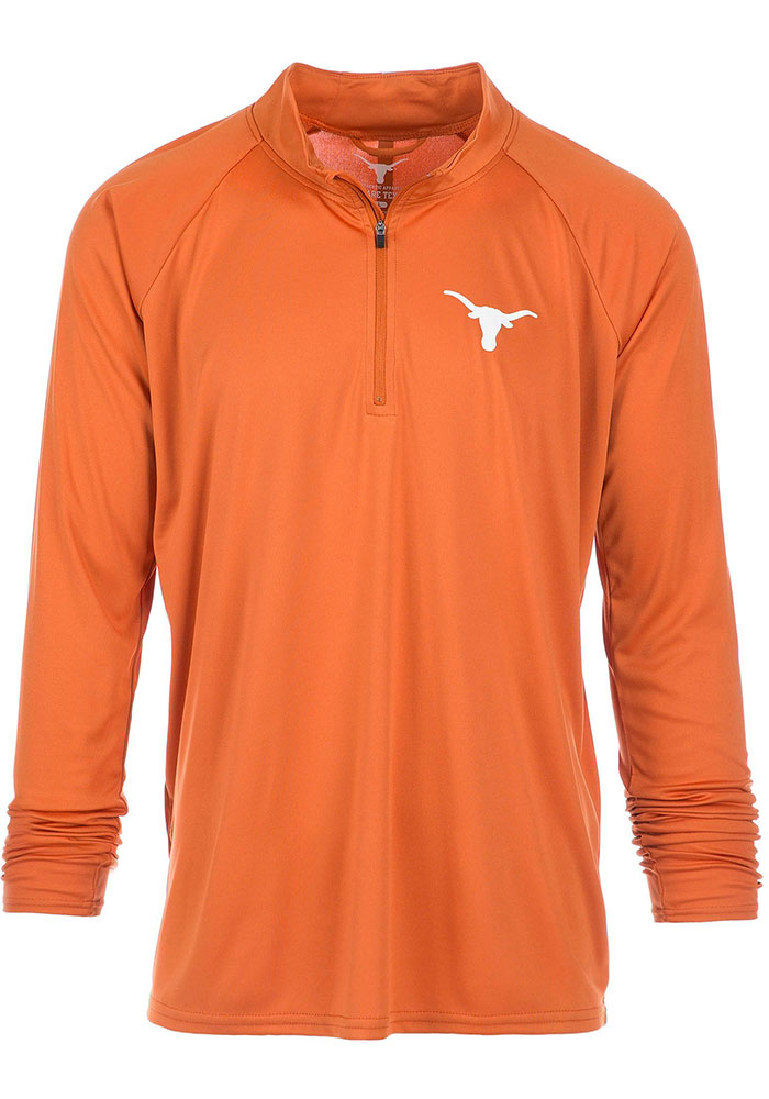 Texas Longhorns Mens Burnt Orange River Long Sleeve 1/4 Zip Pullover - Image 1