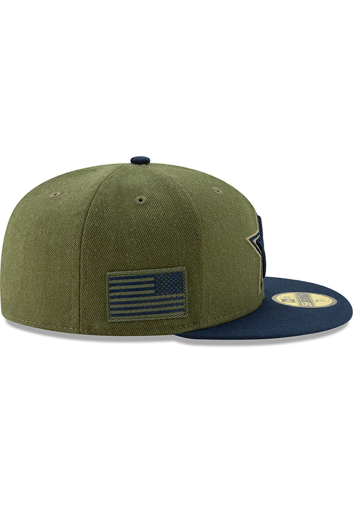 12e326a4f ... best dallas cowboys mens green salute to service 59fifty fitted hat  image 6 1a5cf 3f2b9
