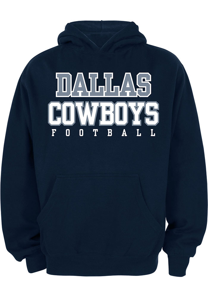 new styles d2076 8d321 Nike Dallas Cowboys Youth Navy Blue Practice Long Sleeve Hoodie