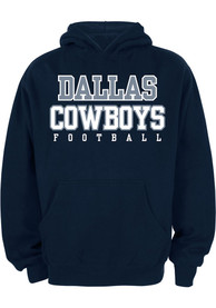 sale retailer 9fb5d 75d4a Nike Dallas Cowboys Youth Navy Blue Practice Hooded Sweatshirt