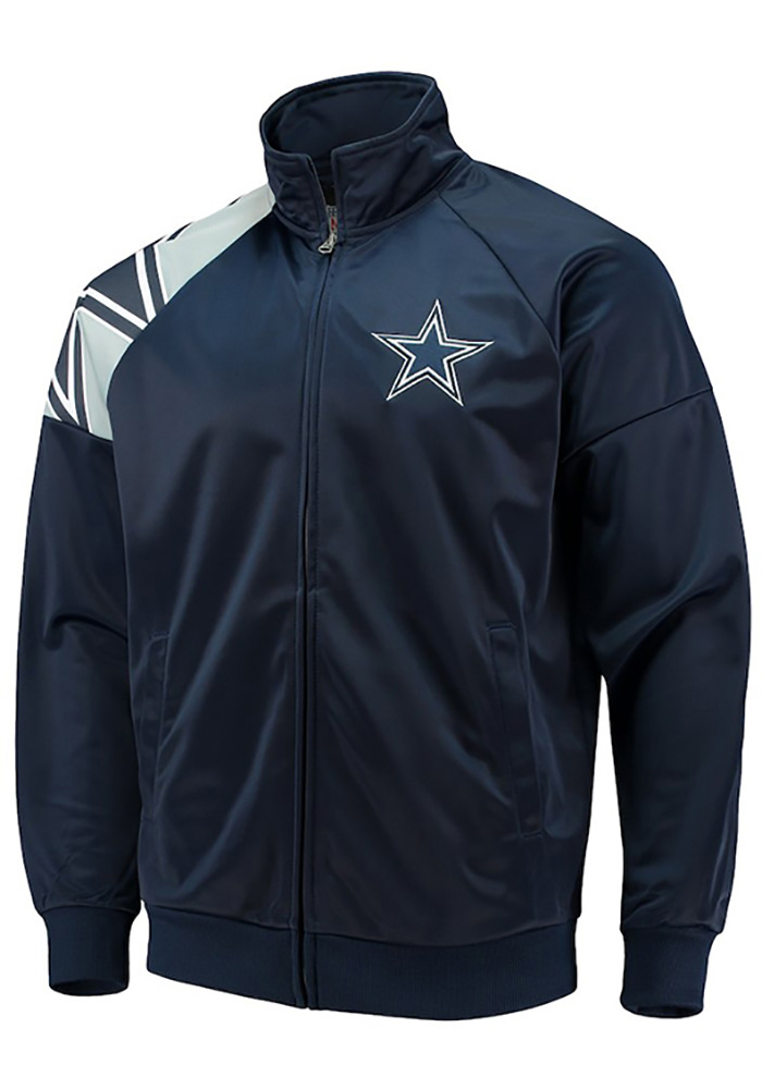 outlet store ae2ff 7942f Dallas Cowboys Youth Navy Blue Interception Long Sleeve Track Jacket