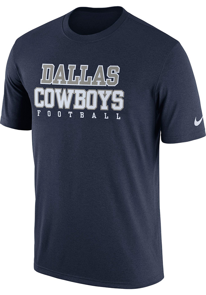 Nike Dallas Cowboys Youth Navy Blue Legend Practice Short Sleeve T-Shirt - Image 1