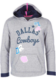 Dallas Cowboys Girls Holly Hooded Sweatshirt - Grey
