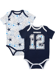 Dallas Cowboys Baby Navy Blue Bubs One Piece