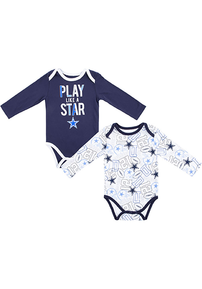 new product d30b8 15b97 Dallas Cowboys Baby Navy Blue Doxin One Piece
