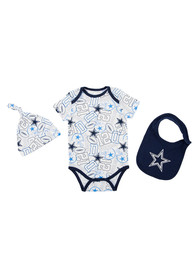 Dallas Cowboys Baby Navy Blue Tuffy One Piece with Bib