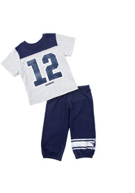 Dallas Cowboys Infant Ernie Top and Bottom - Navy Blue
