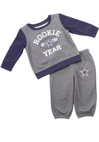 Dallas Cowboys Infant Buster Top and Bottom - Charcoal