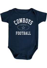 Dallas Cowboys Baby Navy Blue Natural Talent One Piece