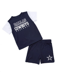 Dallas Cowboys Toddler Jordans Top and Bottom - Navy Blue